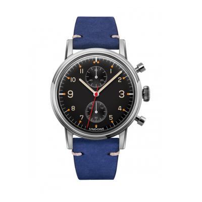 UNDONE Portu メカクォーツ腕時計 【ステンレス カーフレザーベルト ブルー】