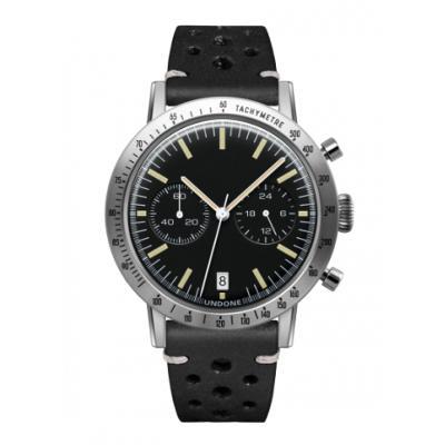 UNDONE URBAN TOROPICAL 腕時計 メカクォーツ Amazon Dial Sport Bezel Silver【ステンレスケース ラリーブラックベルト】