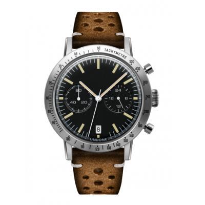 UNDONE URBAN TOROPICAL 腕時計 メカクォーツ Amazon Dial Sport Bezel Silver【ステンレスケース ラリーマッドブラウンベルト】