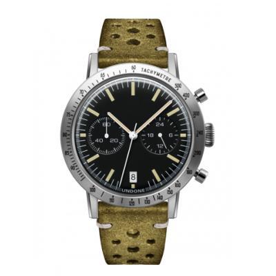 UNDONE URBAN TOROPICAL 腕時計 メカクォーツ Amazon Dial Sport Bezel Silver【ステンレスケース ラリーグリーンベルト】