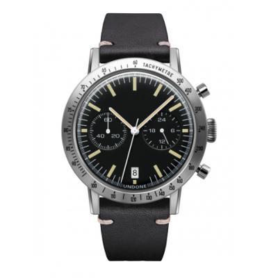 UNDONE URBAN TOROPICAL 腕時計 メカクォーツ Amazon Dial Sport Bezel Silver【ステンレスケース カーフブラック ベルト】