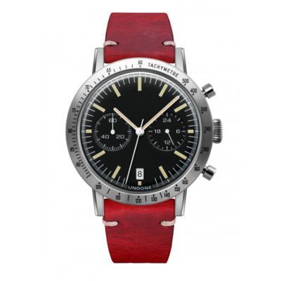 UNDONE URBAN TOROPICAL 腕時計 メカクォーツ Amazon Dial Sport Bezel Silver【ステンレスケース カーフ レッド ベルト】