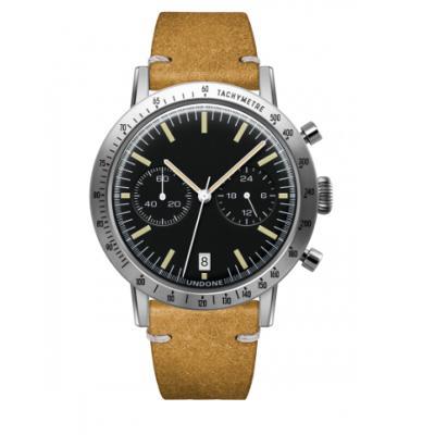 UNDONE URBAN TOROPICAL 腕時計 メカクォーツ Amazon Dial Sport Bezel Silver【ステンレスケース カーフ ヴィンテージイエロー ベルト】