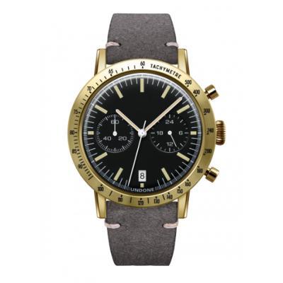UNDONE URBAN TOROPICAL 腕時計 メカクォーツ Amazon Dial Sport Bezel Gold【ゴールドケース カーフ レザーグレー ベルト】