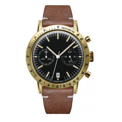 UNDONE URBAN TOROPICAL 腕時計 メカクォーツ Amazon Dial Sport Bezel Gold【ゴールドケース カーフ レザー ブラウン ベルト】
