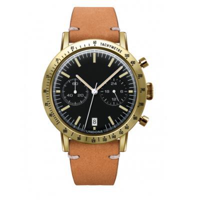 UNDONE URBAN TOROPICAL 腕時計 メカクォーツ Amazon Dial Sport Bezel Gold【ゴールドケース カーフ レザー サンド ベルト】
