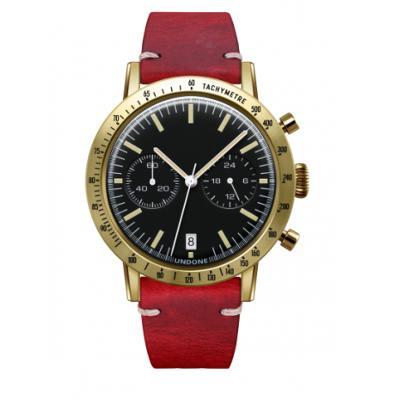 UNDONE URBAN TOROPICAL 腕時計 メカクォーツ Amazon Dial Sport Bezel Gold【ゴールドケース カーフ レザー レッド ベルト】