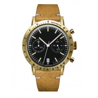 UNDONE URBAN TOROPICAL 腕時計 メカクォーツ Amazon Dial Sport Bezel Gold【ゴールドケース カーフ レザー ヴィンテージイエロー ベルト】