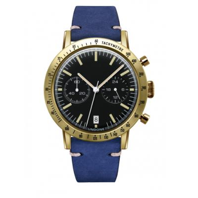 UNDONE URBAN TOROPICAL 腕時計 メカクォーツ Amazon Dial Sport Bezel Gold【ゴールドケース カーフ レザー ブルー ベルト】