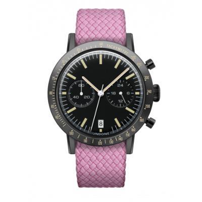 UNDONE URBAN TOROPICAL 腕時計 メカクォーツ Amazon Dial Sport Bezel Black【ブラックケース パーロン ベルト ピンク】