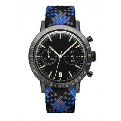 UNDONE URBAN TOROPICAL 腕時計 メカクォーツ Amazon Dial Sport Bezel Black【ブラックケース パーロン ベルト ブルー ブラック グレー】