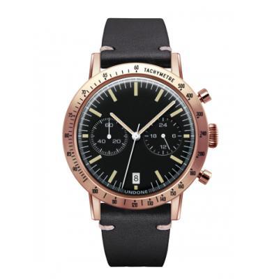 UNDONE URBAN TOROPICAL 腕時計 メカクォーツ Amazon Dial Sport Bezel Rose Gold【ローズケース カーフベルト ブラック】