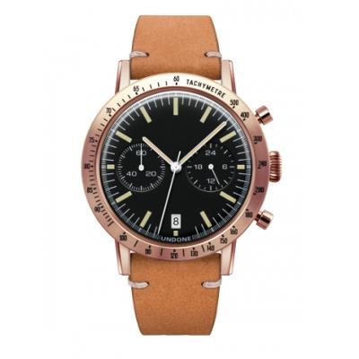 UNDONE URBAN TOROPICAL 腕時計 メカクォーツ Amazon Dial Sport Bezel Rose Gold【ローズケース カーフベルト サンド】