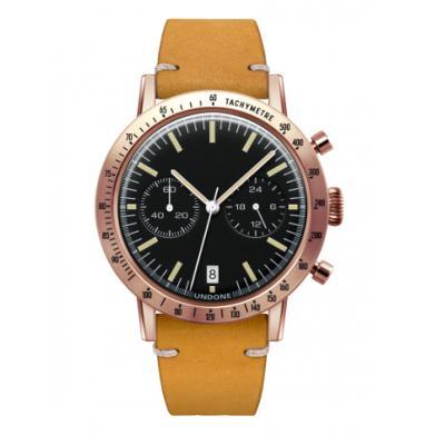 UNDONE URBAN TOROPICAL 腕時計 メカクォーツ Amazon Dial Sport Bezel Rose Gold【ローズケース カーフベルト イエロー】