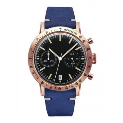 UNDONE URBAN TOROPICAL 腕時計 メカクォーツ Amazon Dial Sport Bezel Rose Gold【ローズケース カーフベルト ブルー】