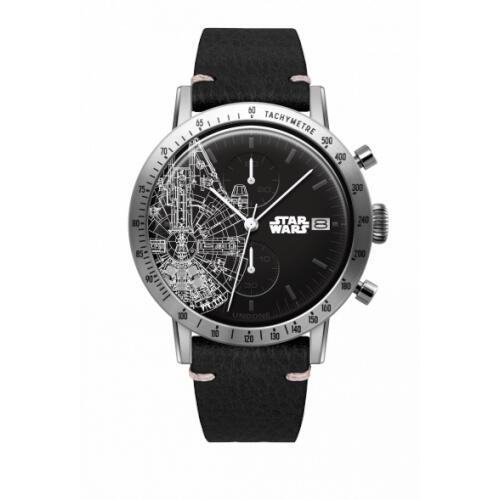 UNDONE スターウォーズ 腕時計 ミレニアム ファルコン【 シルバーケース キャビア ブラック】