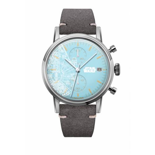UNDONE スターウォーズ 腕時計 ミレニアム ファルコン【 シルバーケース カーフ グレー】