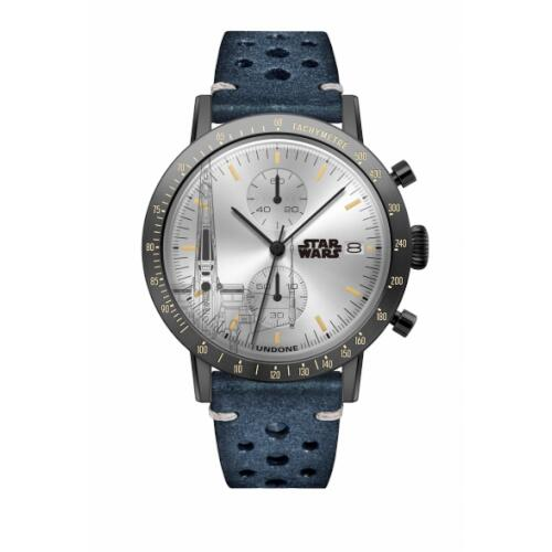 UNDONE スターウォーズ 腕時計 T-70 X-WING STARFIGHTER Xウイング・ファイター【ブラックケース ラリー ブルー】