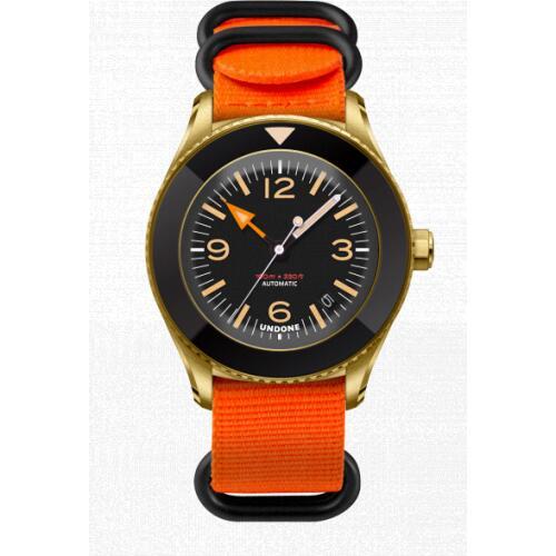 【送料無料】UNDONE 腕時計 Basecamp Classic Original【ベースキャンプ ゴールドケース NATO オレンジ 黒留め】
