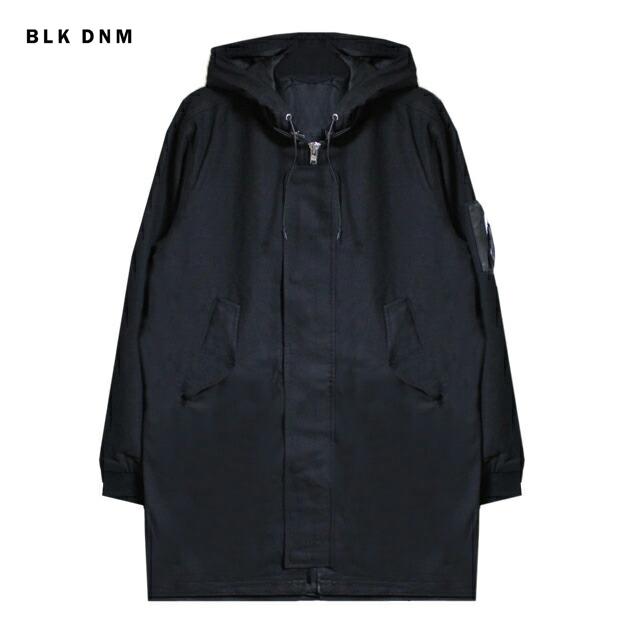 BLK DNM (ブラック デニム) PARKA 3 (BLACK) [ロングボンバージャケット コート アウター ブランド モッズ ミリタリー ストリート モード グランジ メンズ ユニセックス MA-1] [ブラック]
