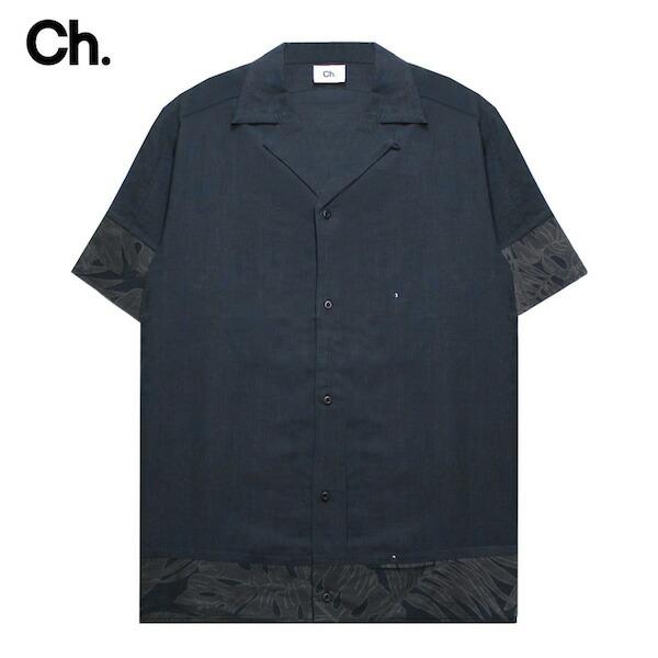 [50%OFFセール] CHAPTER (チャプター) ABRA SHORT SLEEVE SHIRT (FLORAL) [オープンカラーシャツ 開襟シャツ トップス カジュアル ドレス キューバ アロハ フローラル モード メンズ ユニセックス 無地 花柄 半袖] [フローラル]