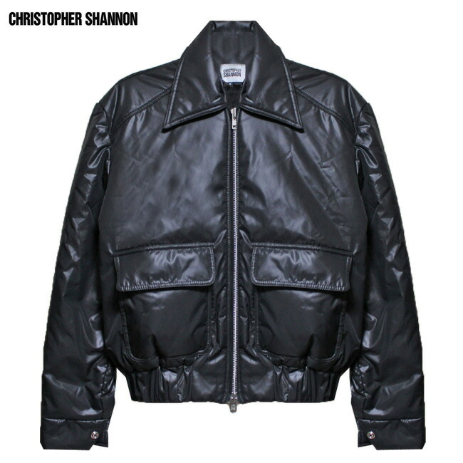 CHRISTOPHER SHANNON (クリストファー シャノン) QUILTED JACKET (BLACK) [ボンバージャケット ブルゾン アウター ブランド キルティング ストリート モード メンズ ユニセックス 中綿 MA-1] [ブラック]