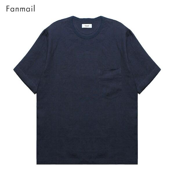 FANMAIL (ファンメール) WOVEN T-SHIRT (NAVY) (NAVY) [Tシャツ T-SHIRT/カットソー/オーガニック [ネイビー]/無地/UNISEX] [ネイビー], きもの市場あんのん:74f08465 --- wap.acessoverde.com