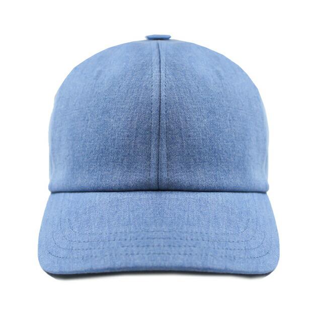 HARMONY (ハーモニー) ARNAUD CAP (BLEACHED) [6パネルキャップ/ベースボール/デニム/ブリーチ/ウォッシュ/帽子/UNISEX] [ライト ブルー]