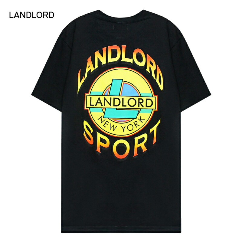 LANDLORD NEW [ブラック] NEW YORK (ランドロード) LANDLORD SPORT T-SHIRT (BLACK) SPORT [Tシャツ/カットソー/トップス/グラフィック/ロゴ/UNISEX] [ブラック], 御津郡:7e404d08 --- vidaperpetua.com.br