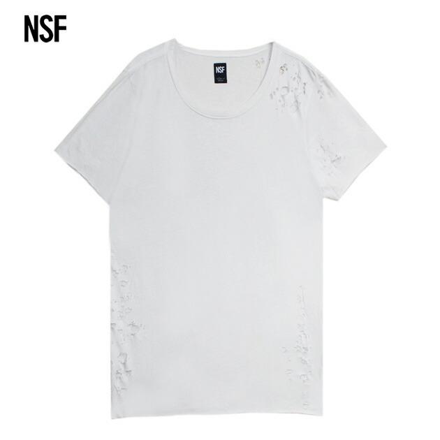 ポイント10倍 送料無料 正規取扱 あす楽 NSF 即納最大半額 CLOTHING エヌエスエフ PHILIPPE TEE 本物 カットソー DESTROY 無地 メンズ SUPER Tシャツ ユニセックス WHITE ホワイト