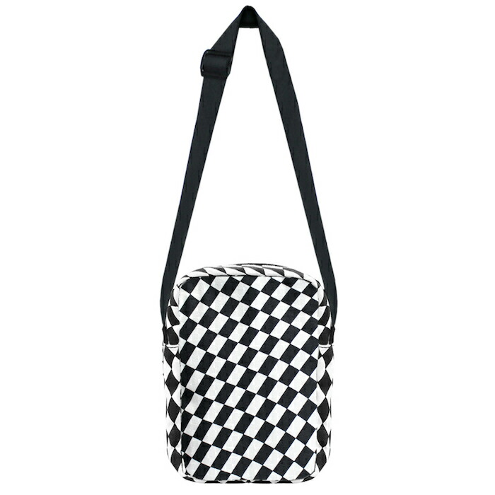 062d6b7946 PETALS AND PEACOCKS (pedals and Peacock s) WARPED SHOULDER BAG  (BLACK WHITE)  body bag   pochette   porch   shoulder   checker  UNISEX    black   white