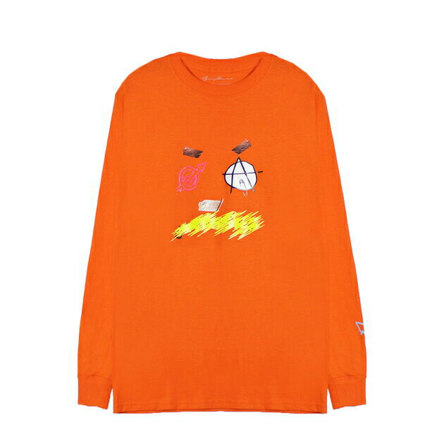 BRIU HOMME (ブリウ オム) DEFINITION LONGSLEEVE (ORANGE) [ロングスリーブ/Tシャツ/カットソー/プリント/グラフィック/ロゴ/UNISEX] [オレンジ], 緑町 3cb3817a