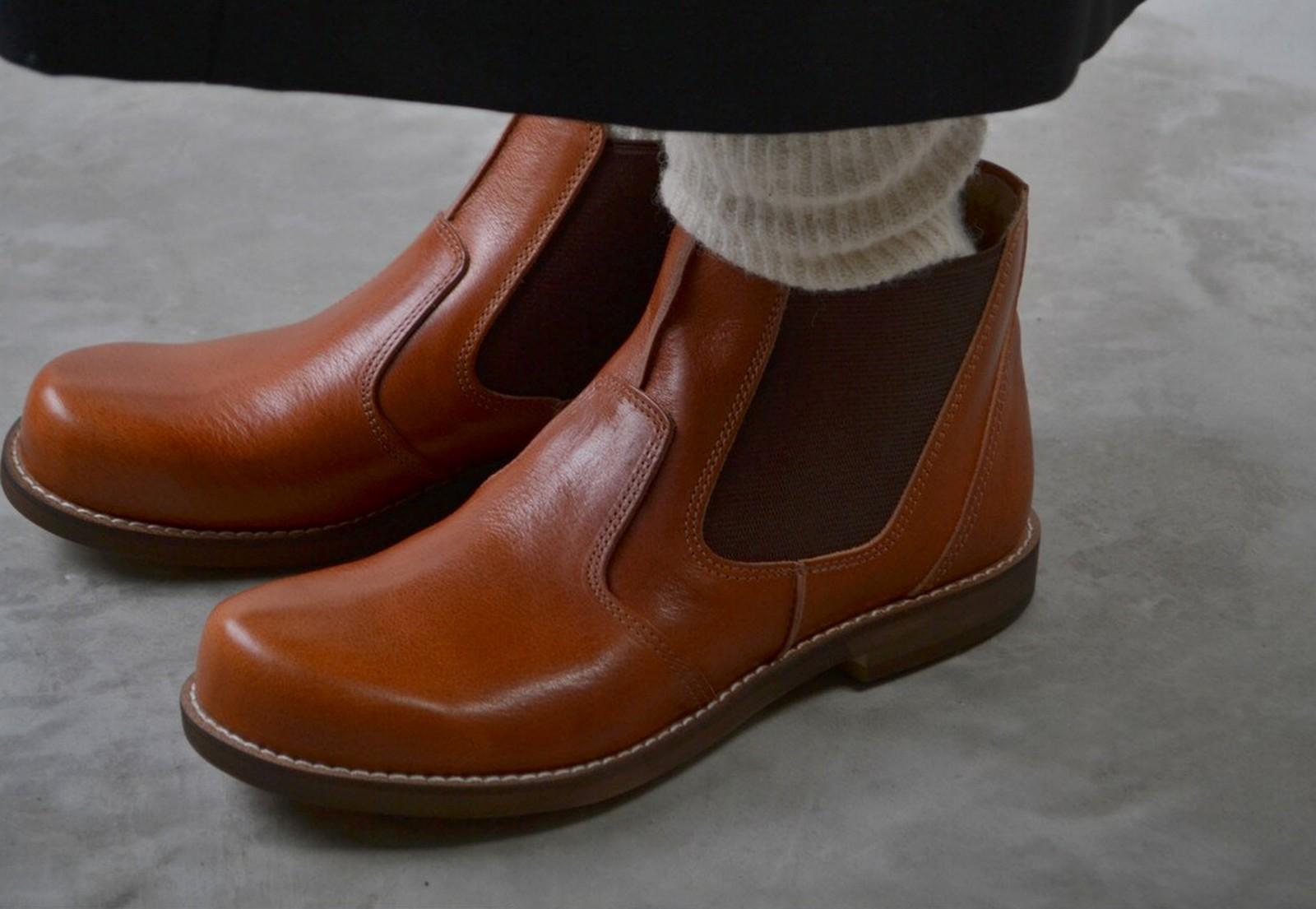 GROW NATURALLY グロウナチュラリー 予約アイテム GN-2045 サイドゴアレザーブーツ 送料無料 全2色 シューズ ブーツ レザー 小さいサイズ 大きいサイズ