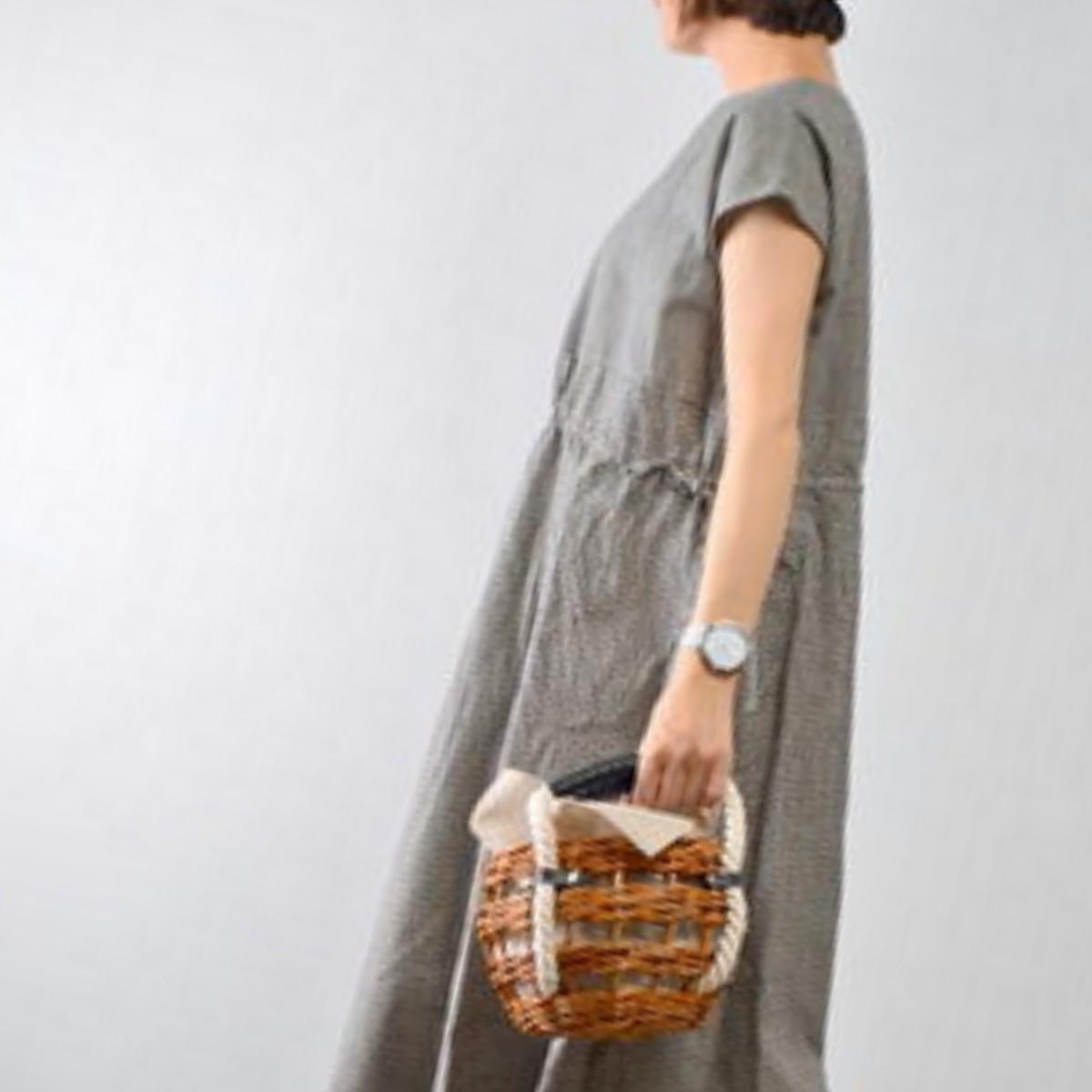 ikot/イコット mind basket bag ロープハンドル丸型かごバッグ IK218008 かごバッグ バッグ かご レディースバック おしゃれ かわいい 大人 小物 送料無料