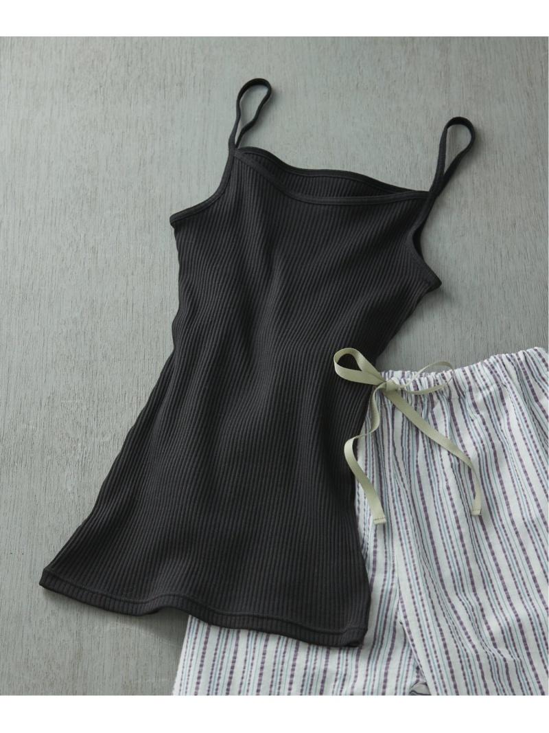 unenana210226_8 inner_0217 une nana cool レディース インナー ナイトウェア Rakuten ホワイト Fashion リブ編みコットン 激安超特価 新品 ウンナナクール ブラック キャミソール