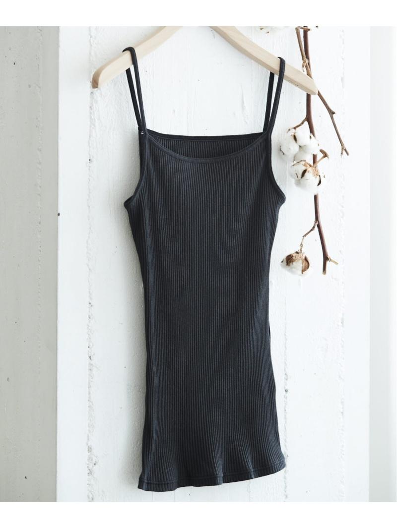 inner_0217 シャツ0524unenana une nana cool レディース 最安値に挑戦 インナー ナイトウェア 有名な ウンナナクール SALE RBA_E グリーン ブラック 10%OFF Fashion Rakuten キャミソール コットンリブ ベージュ