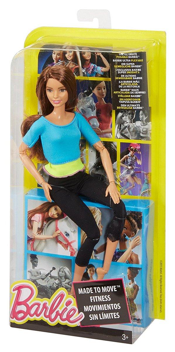 楽天市場】バービー 人形 Barbie Made to Move Doll ブルー DJY08 可動