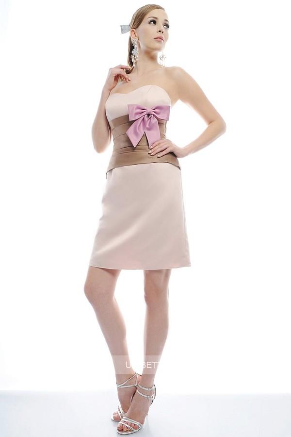 パーティードレス 結婚式 ドレス ショートドレス 謝恩会 2次会 ブタイダル ウェディング カラードレス サイズオーダー無料 6020