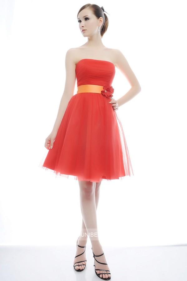 パーティードレス 結婚式 ドレス ショートドレス 謝恩会 2次会 ブタイダル ウェディング カラードレス サイズオーダー無料 6021