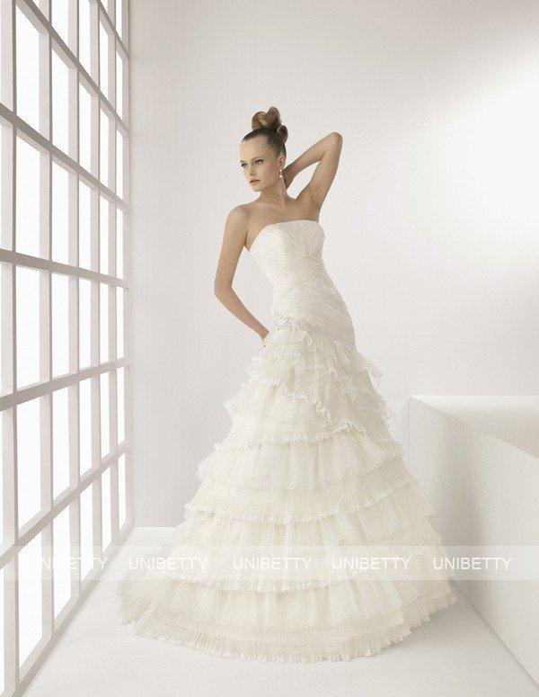 ウェディングドレス 結婚式 オーダードレス ウエディング Aライン 結婚式 披露宴 演奏会 二次会 花嫁 SA0126