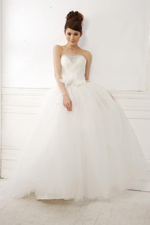 ウェディングドレス プリンセスライン チュール 結婚式 花嫁 ブライダル 披露宴 二次会 パーティー WS127