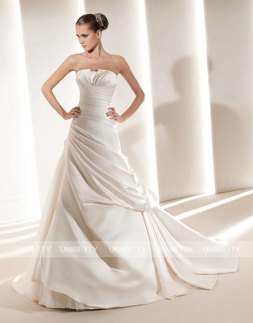 ウェディングドレス サイズオーダー無料 オーダードレス ウエディング Aライン WEDDING DRESS 結婚式 披露宴 演奏会 二次会 花嫁 WS2179