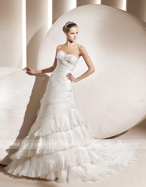 ウェディングドレス サイズオーダー無料 オーダードレス ウエディング Aライン WEDDING DRESS 結婚式 披露宴 演奏会 二次会 花嫁 WS2202
