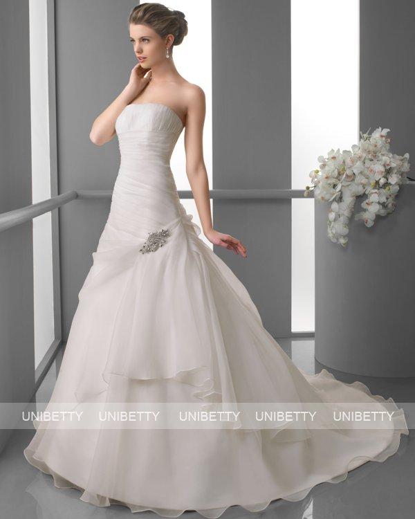 ウェディングドレス サイズオーダー無料 オーダードレス ウエディング Aライン WEDDING DRESS 披露宴 演奏会 結婚式 二次会 ws2409