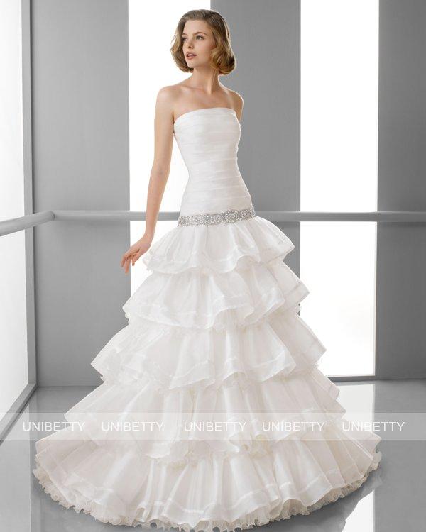 ウェディングドレス サイズオーダー無料 オーダードレス ウエディング Aライン WEDDING DRESS 披露宴 演奏会 結婚式 二次会 ws2419