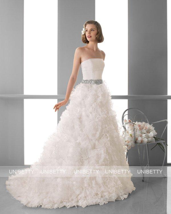 ウェディングドレス サイズオーダー無料 オーダードレス ウエディング Aライン WEDDING DRESS 披露宴 演奏会 結婚式 二次会 ws2447