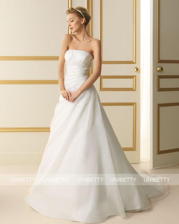 ウェディングドレス サイズオーダー無料 オーダードレス ウエディング Aライン WEDDING DRESS 披露宴 演奏会 結婚式 二次会 ws2461