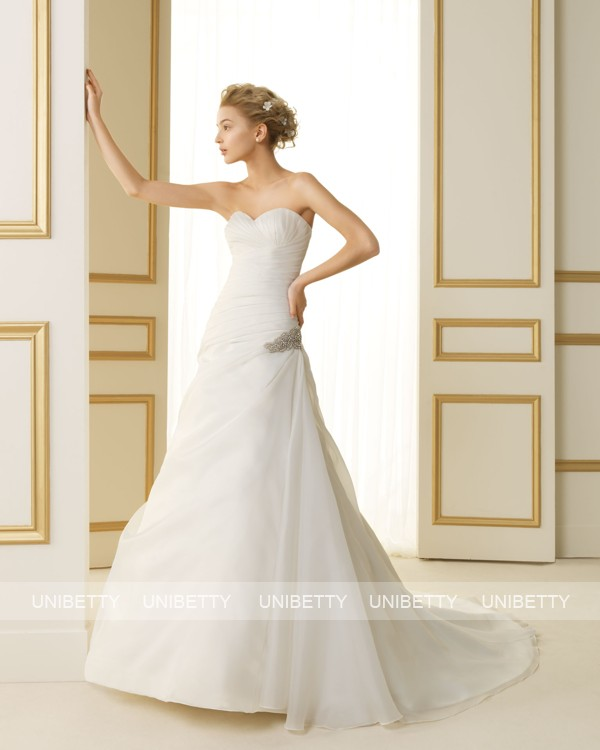 ウェディングドレス サイズオーダー無料 オーダードレス ウエディング Aライン WEDDING DRESS 披露宴 演奏会 結婚式 二次会 ws2476