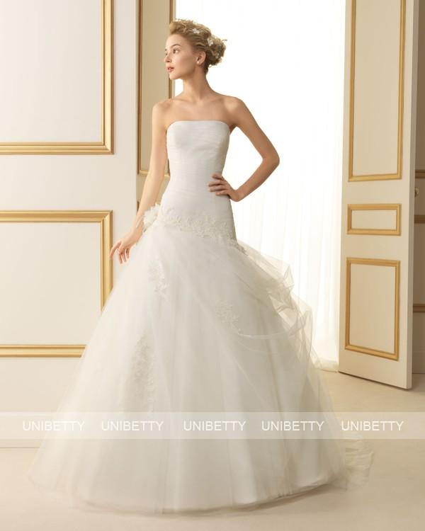 ウェディングドレス サイズオーダー無料 オーダードレス ウエディング Aライン WEDDING DRESS 披露宴 演奏会 結婚式 二次会ws2485