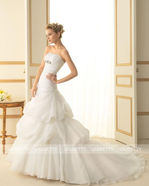 ウェディングドレス サイズオーダー無料 オーダードレス ウエディング Aライン WEDDING DRESS 披露宴 演奏会 結婚式 二次会 ws2496